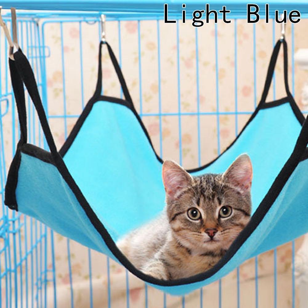 Arena para gatos mascotas Jaulas transpirables gato hamaca colgada camas suaves Fleece hámster camas jaula del conejo para mascota de albergue-Al por mayor
