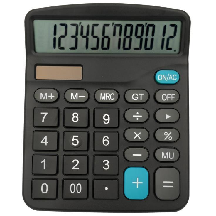 Calculator Solar Battery Light Powered Calculator 12 Digits Office Home Portable Calculator Office worker School Supplies c667