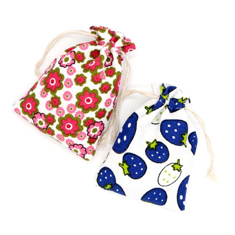 Venta al por mayor 9.5x13.5cm 5pcs / lot bolsas Convas para exhibición de la joyería Bead Storsge Packaging Jewelry Bag Small Gifts Packaging Pouch