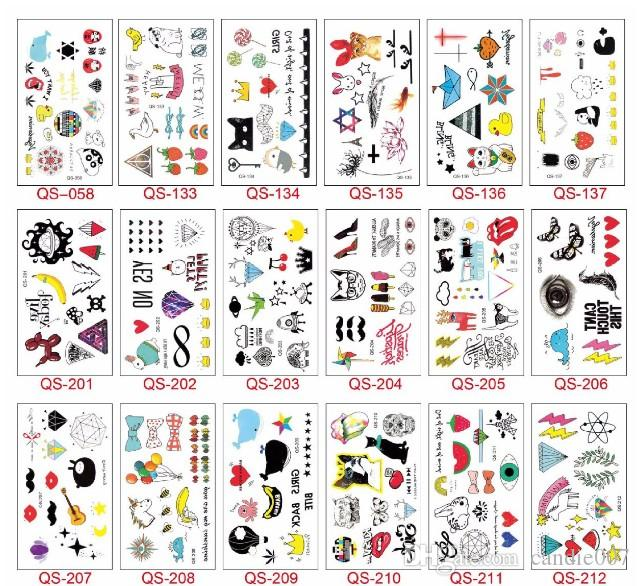 Children Body Art Tattoos Lovely Kids Colored Tattoos Cartoon Image Temporary Water Transfer Sanitary Tattoos Body Art Tattoo Stickers Extra Large Temporary Tattoos Football Temporary Tattoos From Candie007 0 11 Dhgate Com