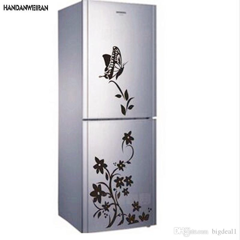 2018 Hot butterflies for decoration flower vine refrigerator stickers paper generation carving can be removed Wall sticker