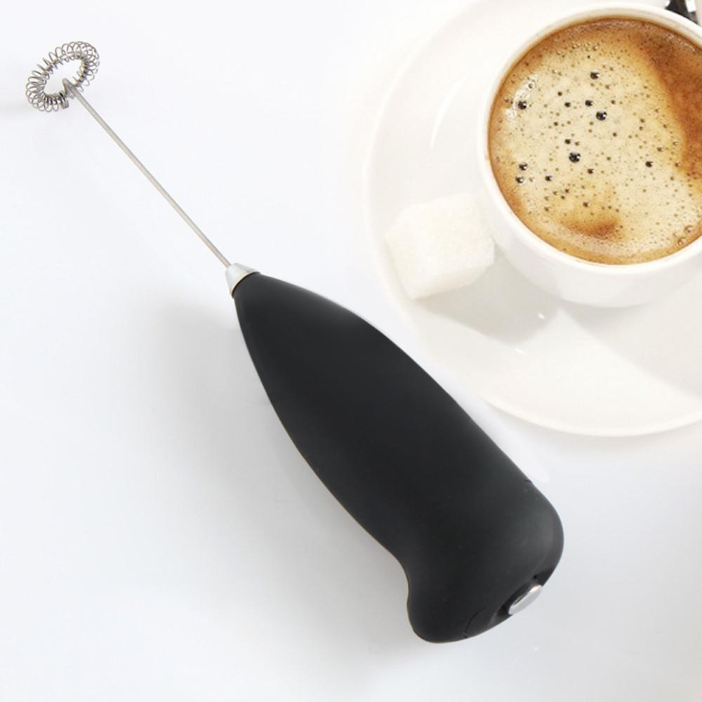 Machine /à Mousse /à Main Automatique pour Caf/é Fouet Electrique Mixer blanc Mousseur /à lait Cappuccino Lattes