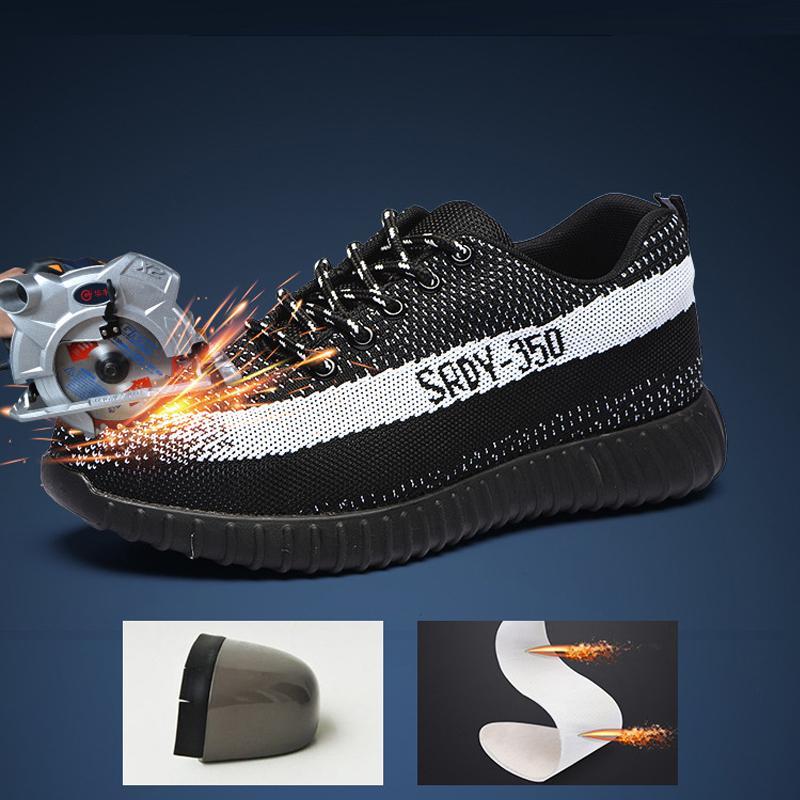zapatos de prevención de zapatos de seguridad con mosca seguro de trabajo de la armadura de acero sicarios una prueba de punción Baotou botas