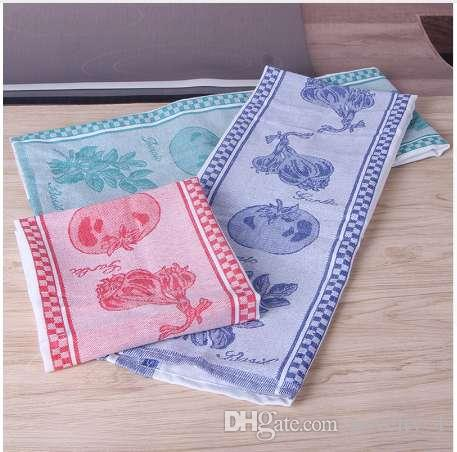 3pcs qf100a 100% cotton soft silk slip wash water thickened tea towel cleaning cloth retro Chinese style