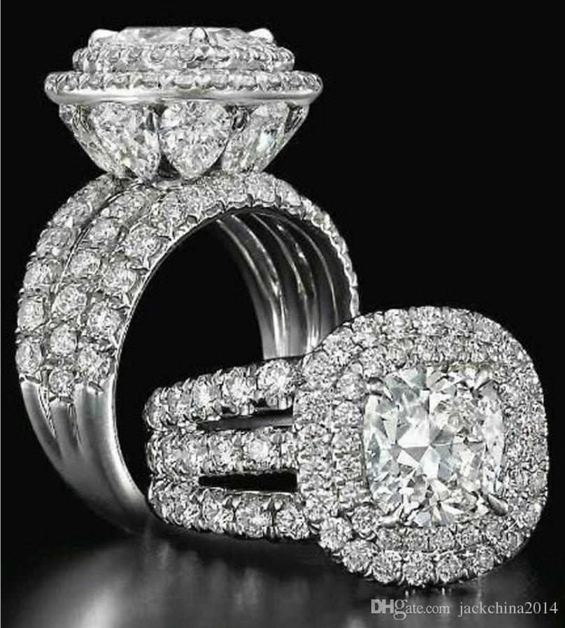 Aaaaajewelry Stunning Luxury jewelry Couple Rings 925 Sterling Silver Pear Cut Sapphire Emerald Multi Gemstones Wedding Bridal Ring Set