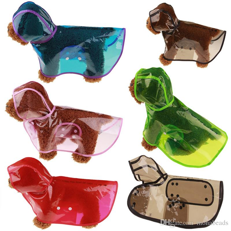 Transparent Waterproof Dog Clothes Transparent Dog Raincoat Pet Clothes Puppy Rain coat Hoody Clothing For Dogs