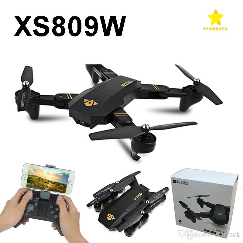 RC Cámara Drones XS809W Mini plegable aviones no tripulados de 0,3 MP con WIFI 2MP cámara Altitud Hold Quadcopter