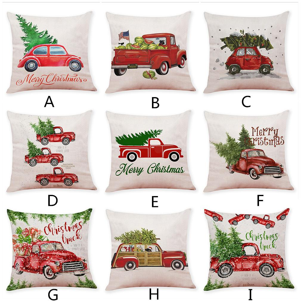 18/'/' Square Tree Linen Sofa Bed Pillowcase Cushion Cover Home Throw Decoration