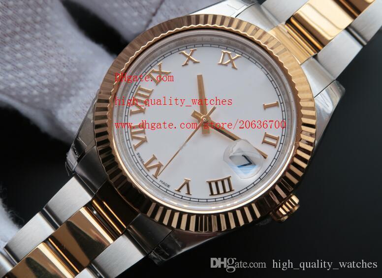 Fornitore di lusso da polso moda fabbrica NUOVO 41MM acciaio 126.333 quadrante bianco Watch Watches Men Mens meccanico automatico di