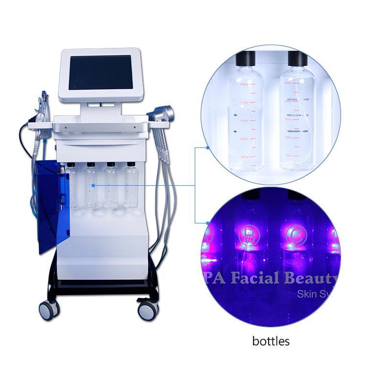 Equipo HydraFacial agua Hydra dermoabrasión la piel facial de limpieza oxígeno Jet BIO estiramiento facial Ultrasonido Máquina