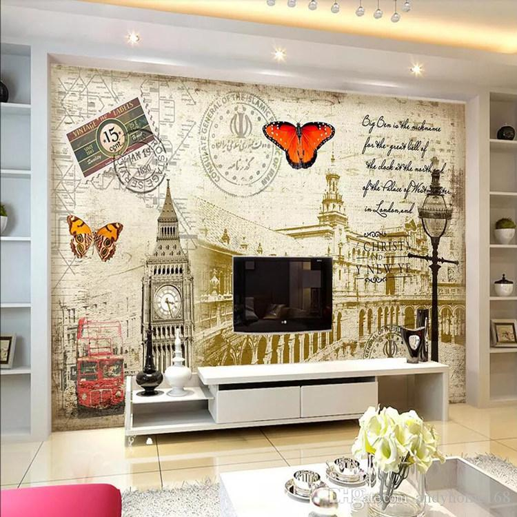 Arkadi 3d living room TV background wall decoration European architectural decoration painting European background wall painting