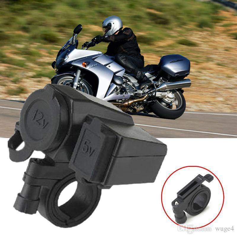 Waterproof power socket usb for motorcycle Motorbike 12 V Cigarette Lighter 5V USB Power Port Adaptor Outlet Charger