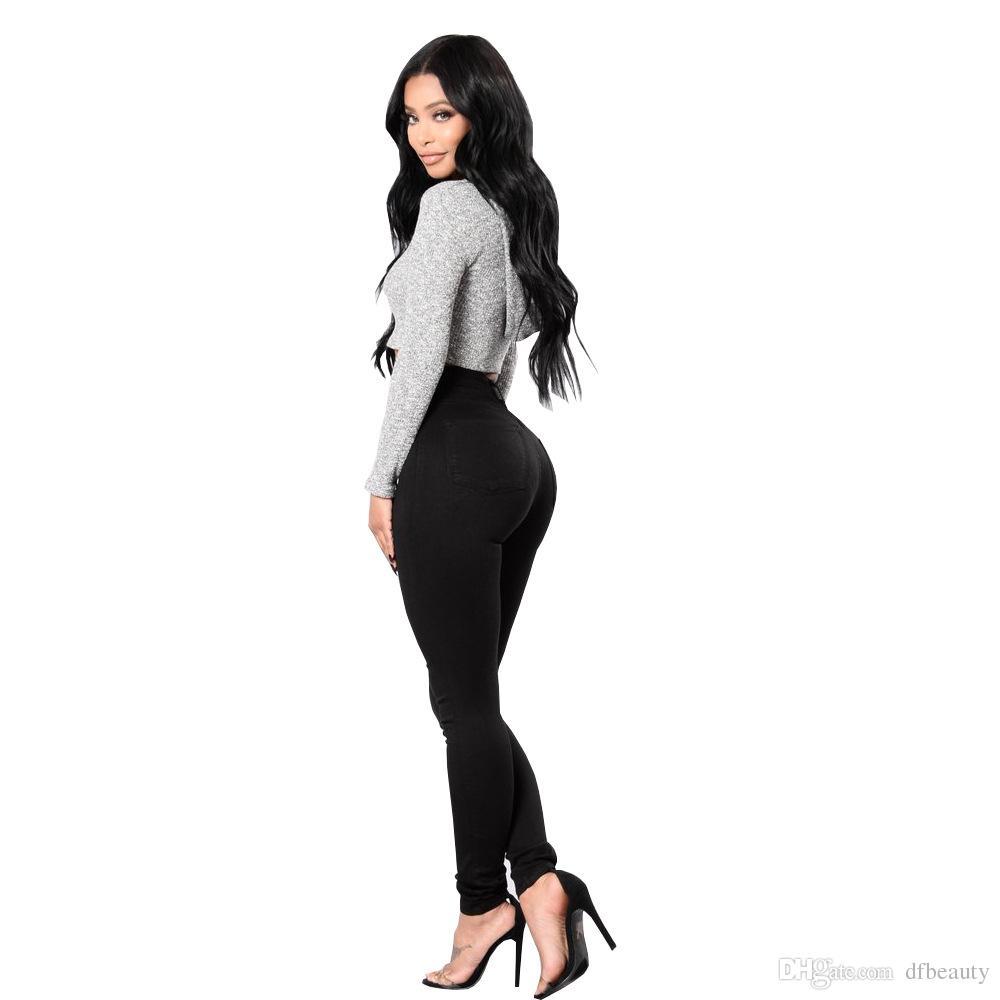 Nouveau Chaussures Femmes Légères Pantalon stretch blanc//noir court Taille 25,26,27,28 50,52,54,56