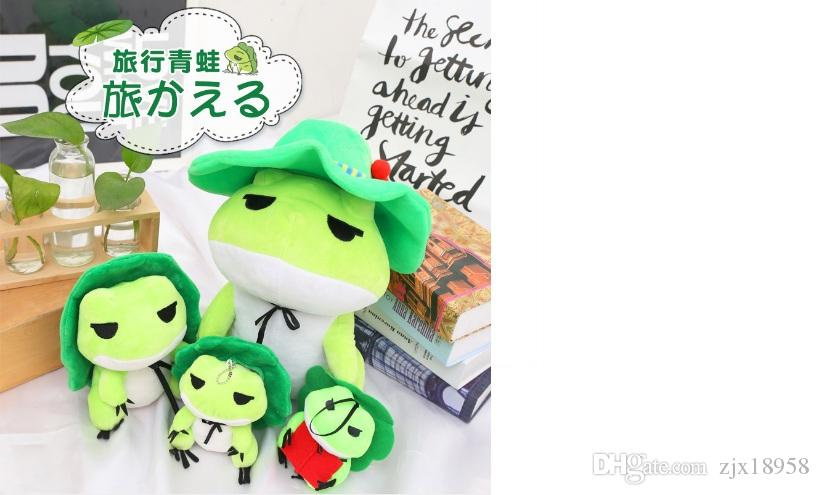 Net red travel frog, creative plush toys, doll games, surrounding dolls, lovely gifts, animated Buddha, frogs, traveling frogs, anime, cute