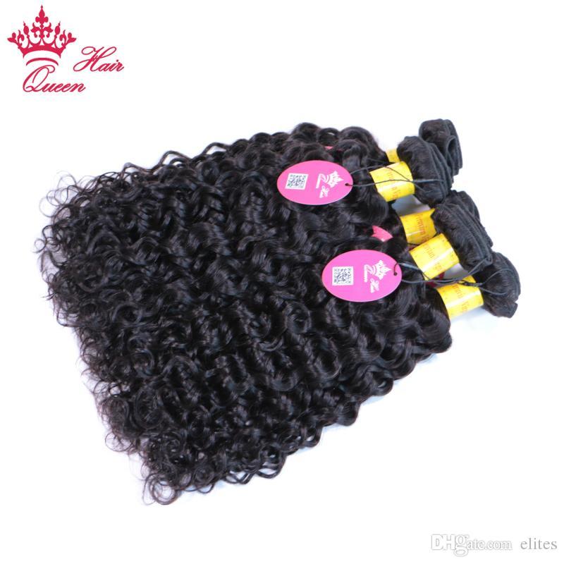 Ферзь продукты 100% пучки человеческих волос 5 шт. естественный цвет перуанской воды волны волос ткать 10-28 дюймов наращивание волос