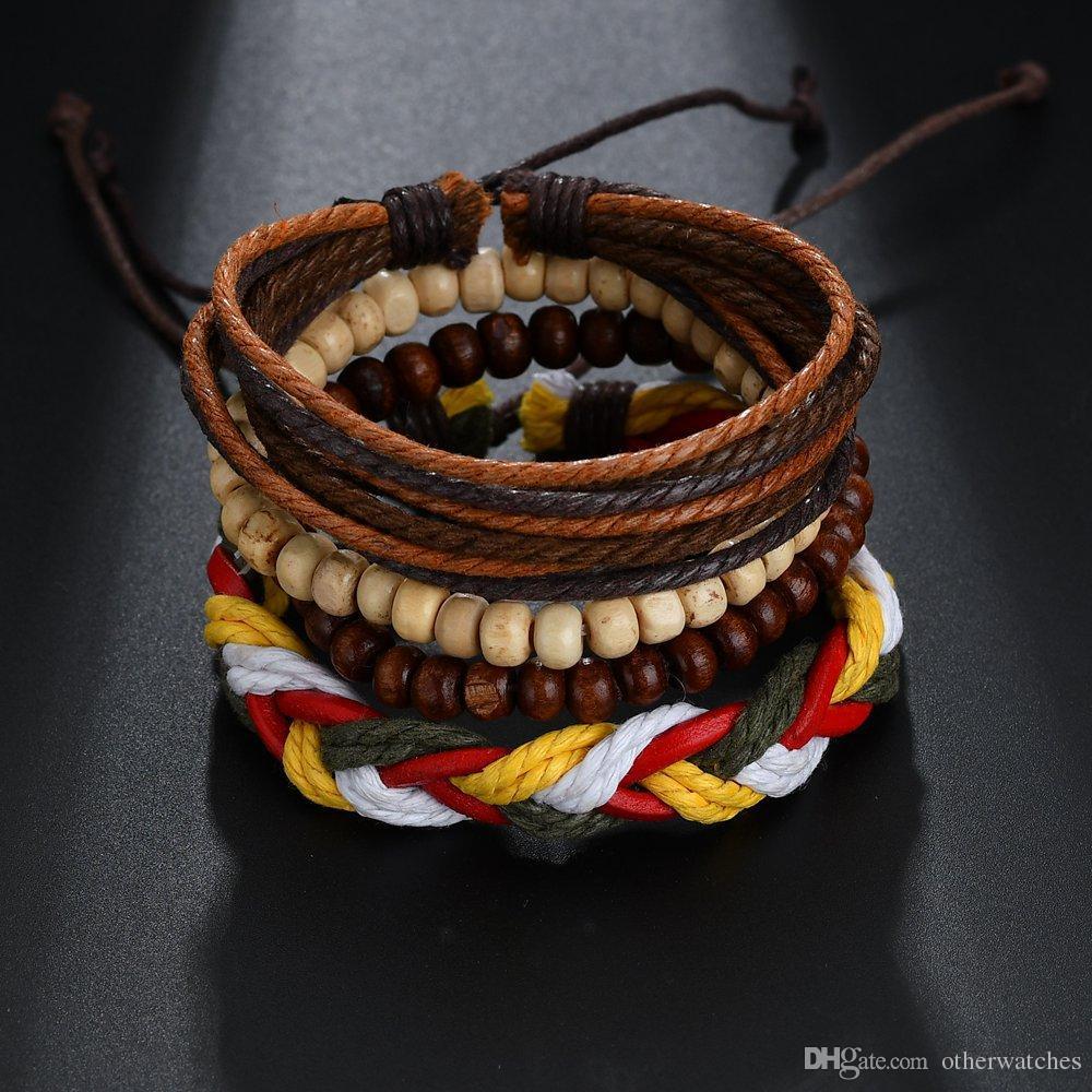 Цвет плетеные регулируемые ручные теннисные браслеты