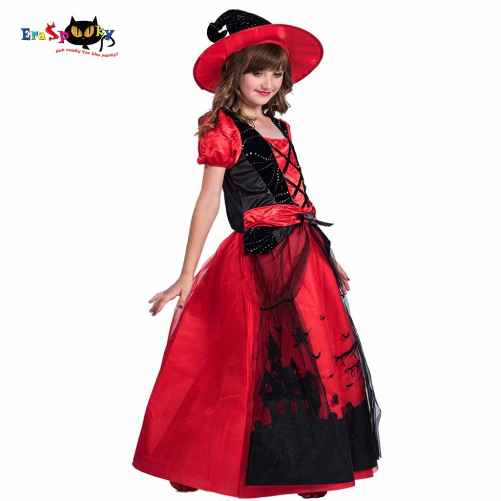 Cheap Fancy Red Witch Costumes For Kids Mesh Lace Party Dress With Hat Children Anime Cosplay Girls Halloween Costume 2017 Teen Halloween Costume Unique Halloween Costume From Hongyeli 19 47 Dhgate Com
