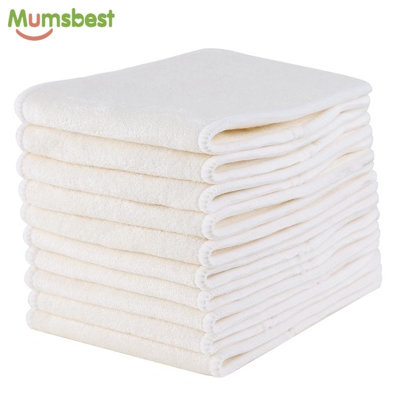10 Pcs 4 Layers Reusable Washable Breathable Microfibre Bamboo Charcoal Inserts Boosters Liners For Baby Cloth Diapers Nappy Wholesale