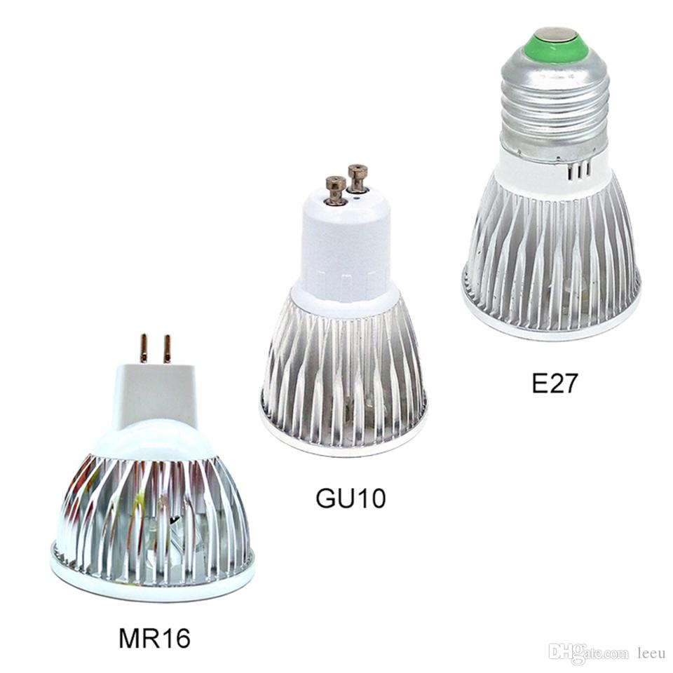 LED 램프 디 밍이 가능한 GU10 MR16 E27 Led 조명 스포트 라이트 LED 전구 통 램프