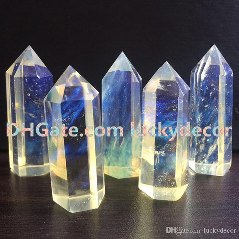 Yellow Smelt Quartz Stone Healing Crystal Gemstone Single Point Wand Reiki Energy Handmade Decoration Meditation Yoga Gift Chakra Collection