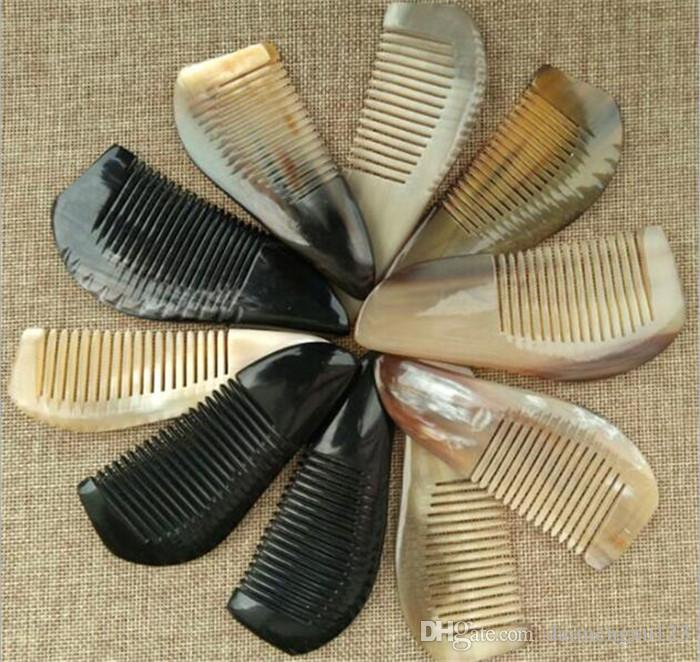100pcs Useful OX Horn Combs Pocket Tool Straight Hair Comb Natural Health Massage Brush Portable Handmade Craft Gift X097