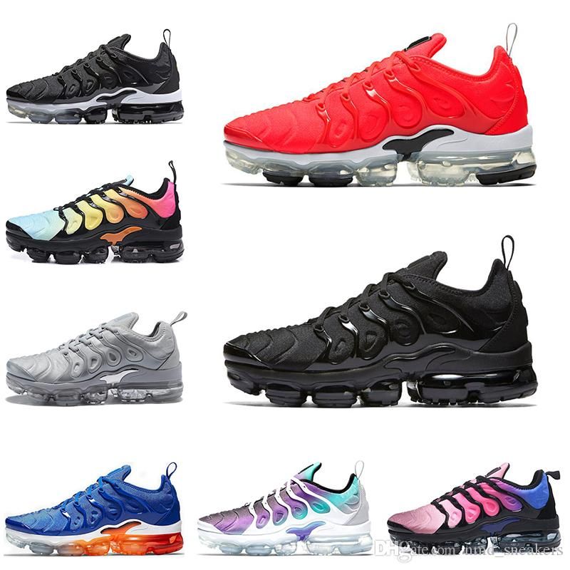 super popular eb33f b9f25 Hot New Air Vm Tn Plus Be Ture Men Running Shoes Usa Black Red Game Royal  White Orange Mens Trainers Women Sports Sneaker Men Running Shoes Best ...