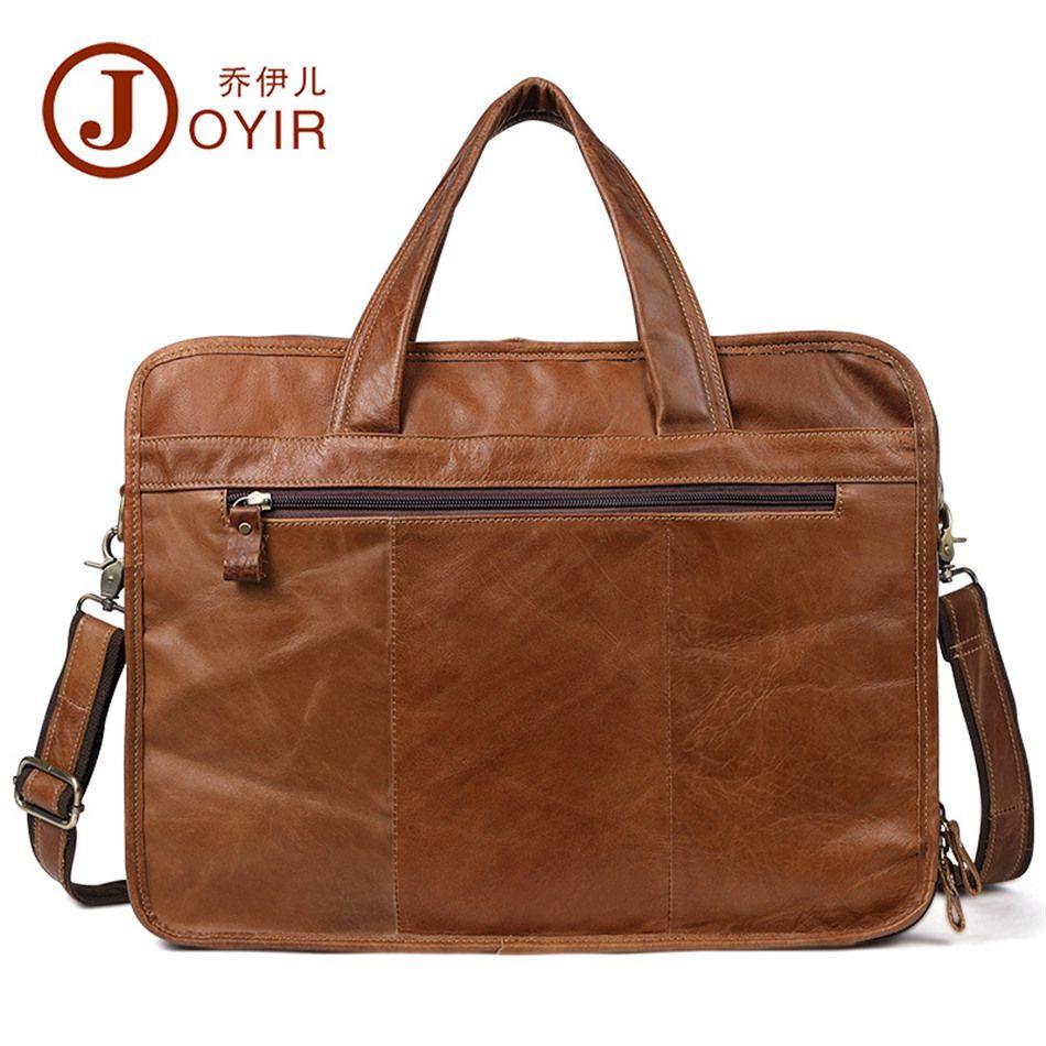Cartella da uomo Joyir di alta qualità in pelle di mucca casual tote in pelle oleosa borsa per laptop borsa a tracolla per uomo borse a tracolla per uomo d'affari