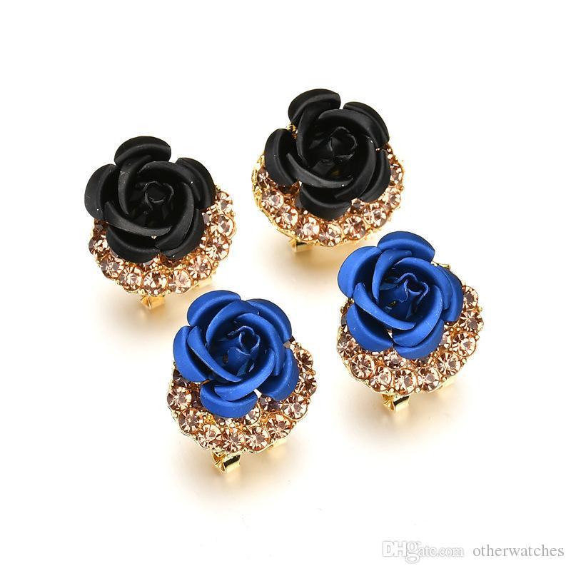 Ретро элегантный модный элегантный бриллиантовое сверло серьги