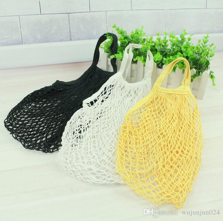 Reusable Fruit String Shoulder Bags Grocery Shopper Tote Mesh Woven Net Shoulder Bag Kadin Canta Unisex Shopping Bags