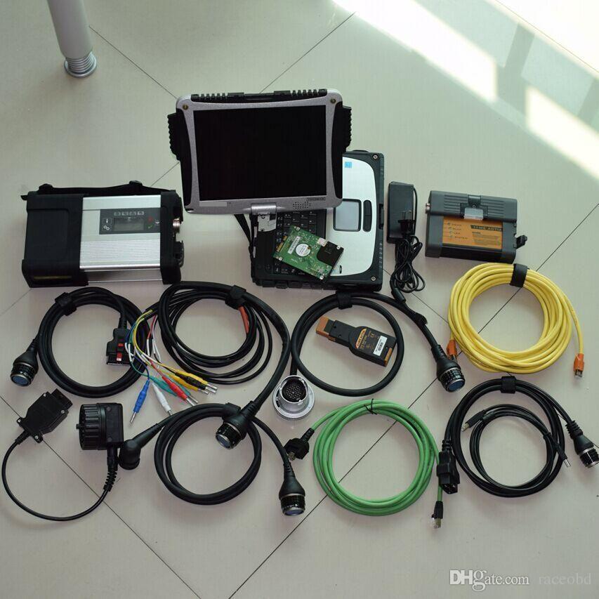 Per il sistema di utensili diagnostici Benz e BMW 2in1 MB Star C5 ICOM A2 con HDD 1TB Laptop Toughbook CF19