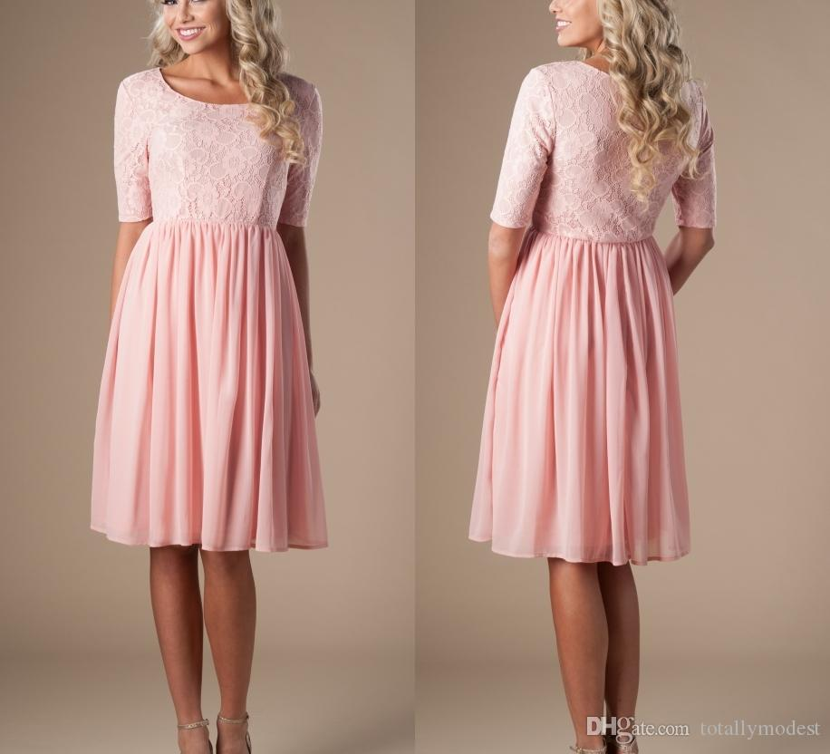 knee length modest knee length pink dresses