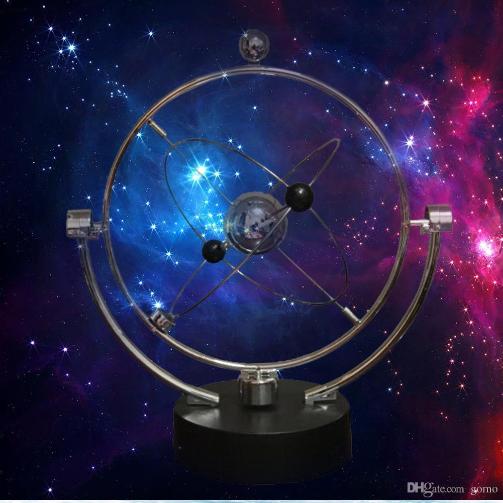 1 adet kinetik orbital döner gadget perpetual motion desk sanat Samanyolu oyuncak ofis dekor eğitici bilim sanat