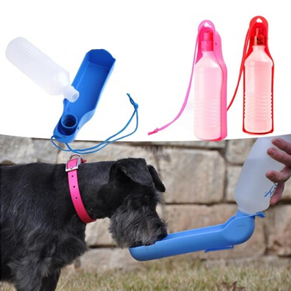 Wholesale 500ML Color Dog Travel Sport Covenient Water Bottle Outdoor Feed Drinking Bottle Pet Supply Portable Pet Accessories