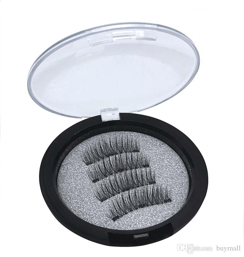 New Arrival 3 Magnetic False Eyelashes Hand-made natural long Fake Lashes 24P TC01 TC03 drop shipping