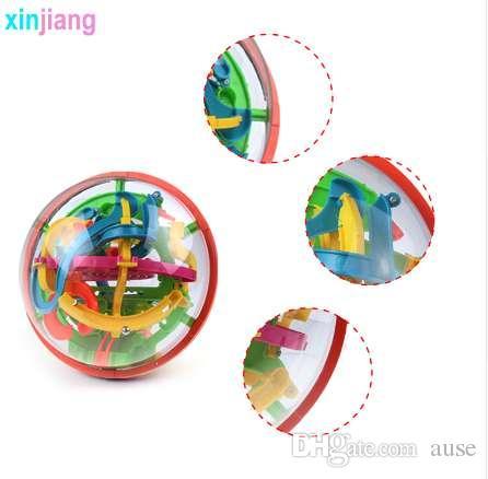 138 passi 3D Intellent Magic Maze Ball Rolling Ball Puzzle Game Rompicapo Bambini che imparano IQ Balance Giocattoli educativi