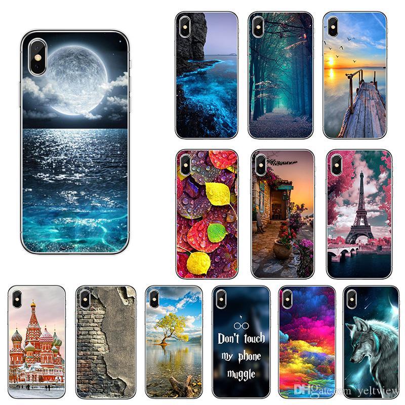 33 estilos para iphone x 5 6 7 8 plus case Funda de móvil pintada a mano Protección de cuerpo completa de TPU suave para Samsung Huawei