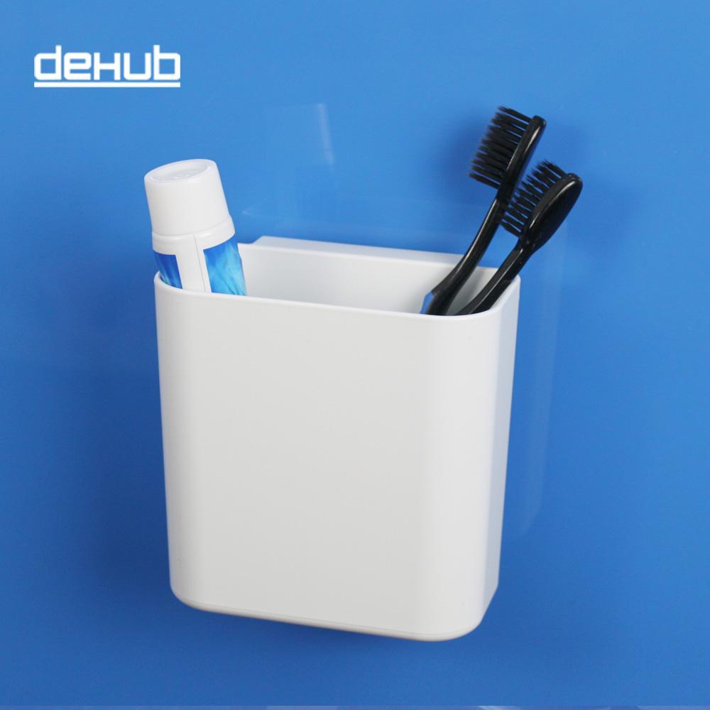 흰색 Dehub 욕실 세트 욕실 액세서리에 대한 흡입 컵 칫솔 홀더 칫솔 홀더