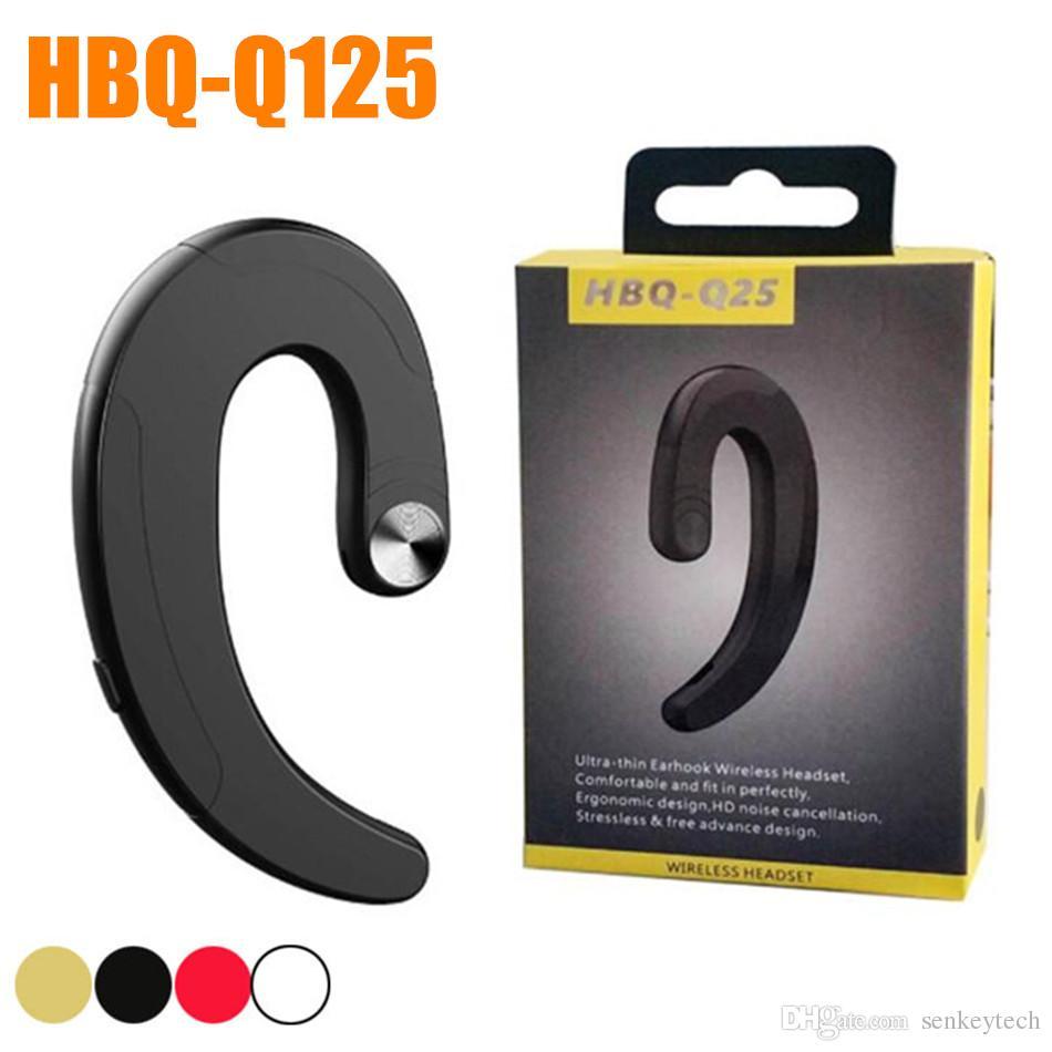 HBQ-Q25 Kablosuz Bluetooth Kulaklık Kulakiçi Su Olmayan Kulak Spor Su Geçirmez Kulaklıklar Perakende Paketi Ile Android Telefon Için