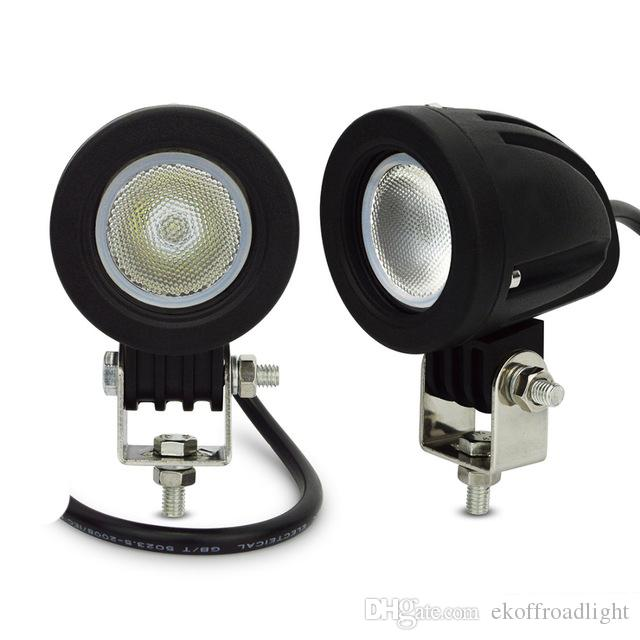 ECAHAYAKU 2 PCS 10 W CONDUZIU A LUZ DE TRABALHO 12 V 4WD luzes de trabalho do trator offroad condução 4X4 ATV carro motocicleta SUV luzes para caminhão redondo