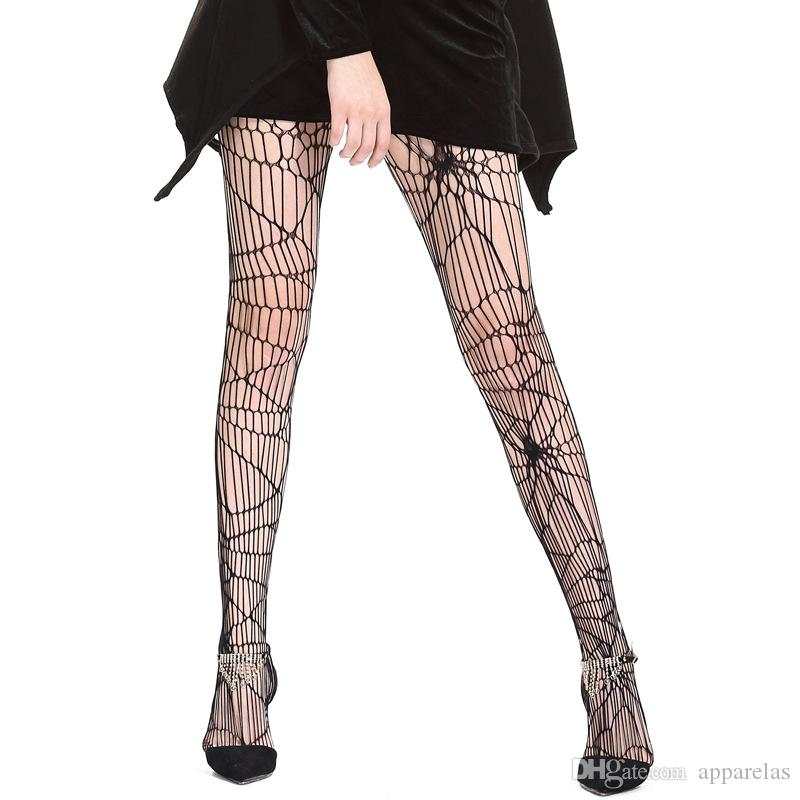 Black Halloween Sexy Sexy spiders, patterns, pants, socks, foreign trade, women's mesh stockings Main fabric composition polyester fiber