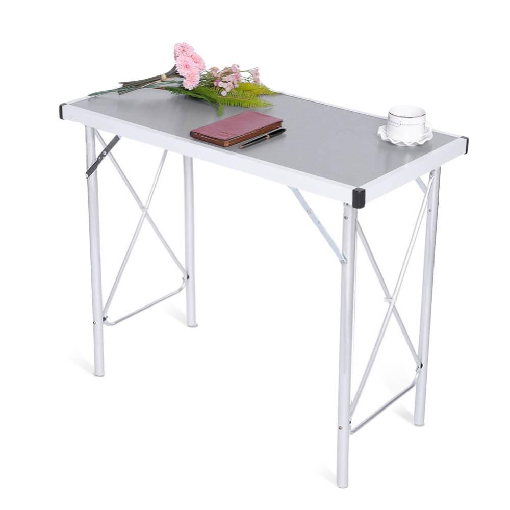 Tavolo In Alluminio Da Campeggio.Acquista Lega Di Alluminio Pieghevole Tavolo Da Campeggio Letto