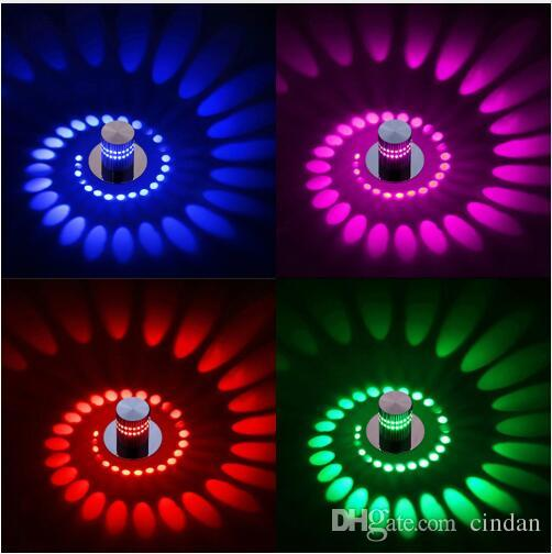 Современные светодиодные потолочные светильники 3W RGB стены Бра для Art Gallery Украшение Front Балкон лампы Крыльцо световых коридоров СВЕТИЛЬНИК