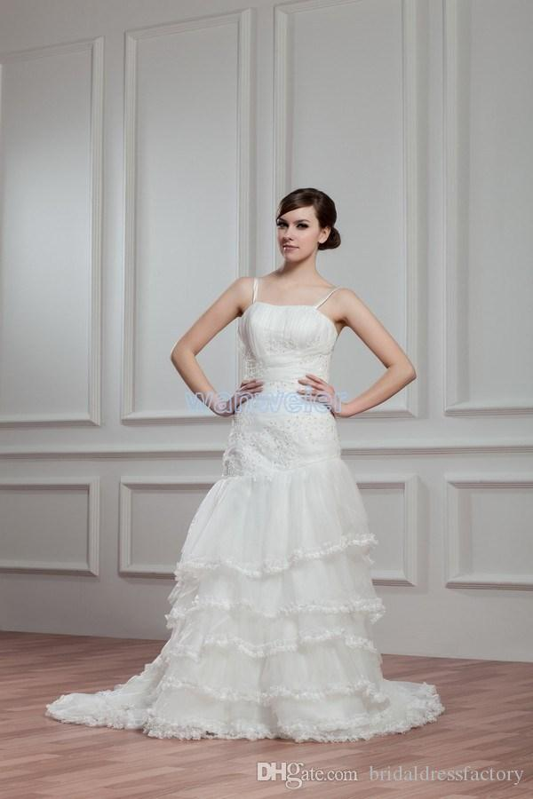free shipping 2018 new design hot seller small train bridal gown custom size/color delivery 10 days white/ivory wedding dress