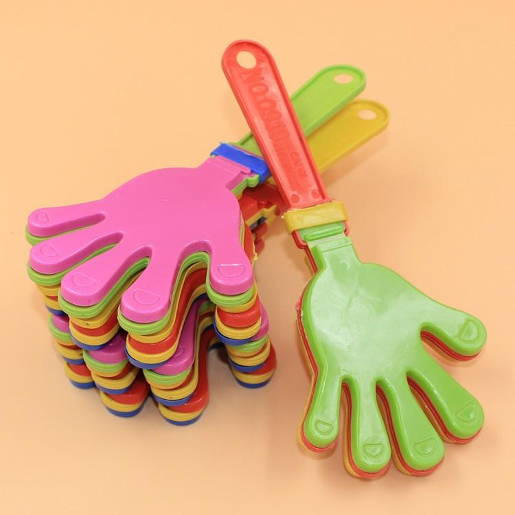 Plastic Hand clapper clap toy cheer leading clap for Olympic game football game Noise Maker Baby Kid Pet Toy 110PCS