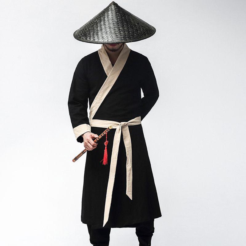 Nouveau carnaval d'Halloween Costumes Officier Chevaliers Hommes Soldat Uniforme Cosplay ancien hanfu chinois masculin Costume de robe noire