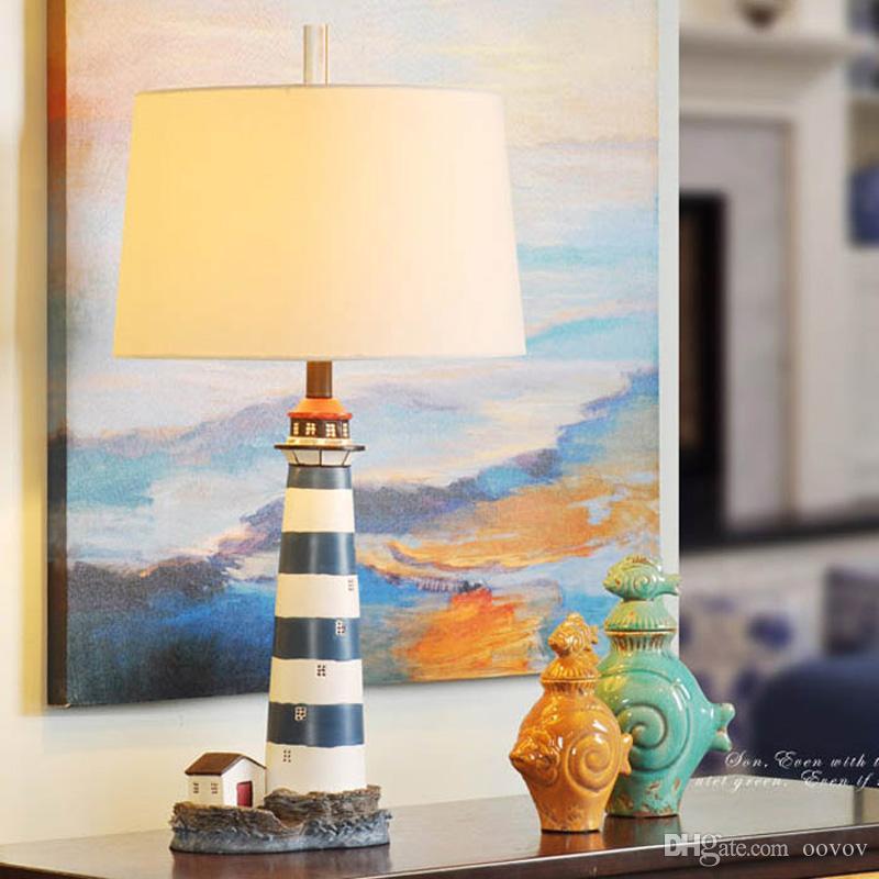 Acheter OOVOV Bleu Méditerranée Phare Enfants Chambre Lampe De Bureau  Chambre Bébé Creative Lampes De Table Salon Bureau Lumière De $227.14 Du  Oovov | ...