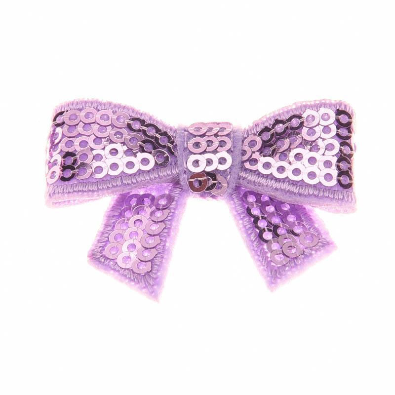 18PCS Newborn Sequin Bows Bowknot Piccoli accessori per capelli Glitter Archi per capelli No Hairclip