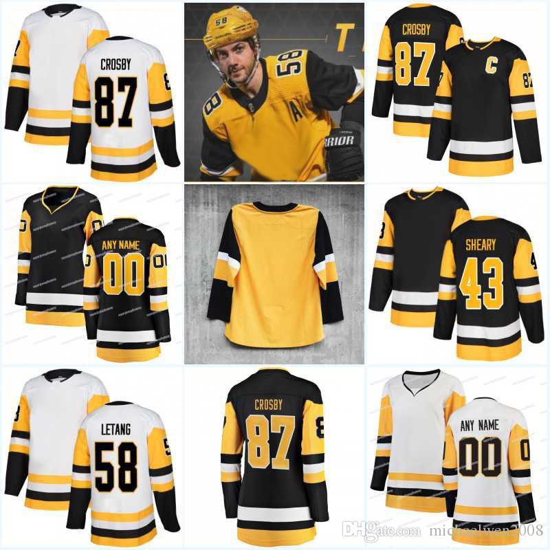 Nueva temporada 81 Phil Kessel 17 Bryan Rust 41 Daniel Sprong 8 Brian Dumoulin 73 Jack Johnson 58 Kris Letang 3 camisetas de hockey Olli Maatta