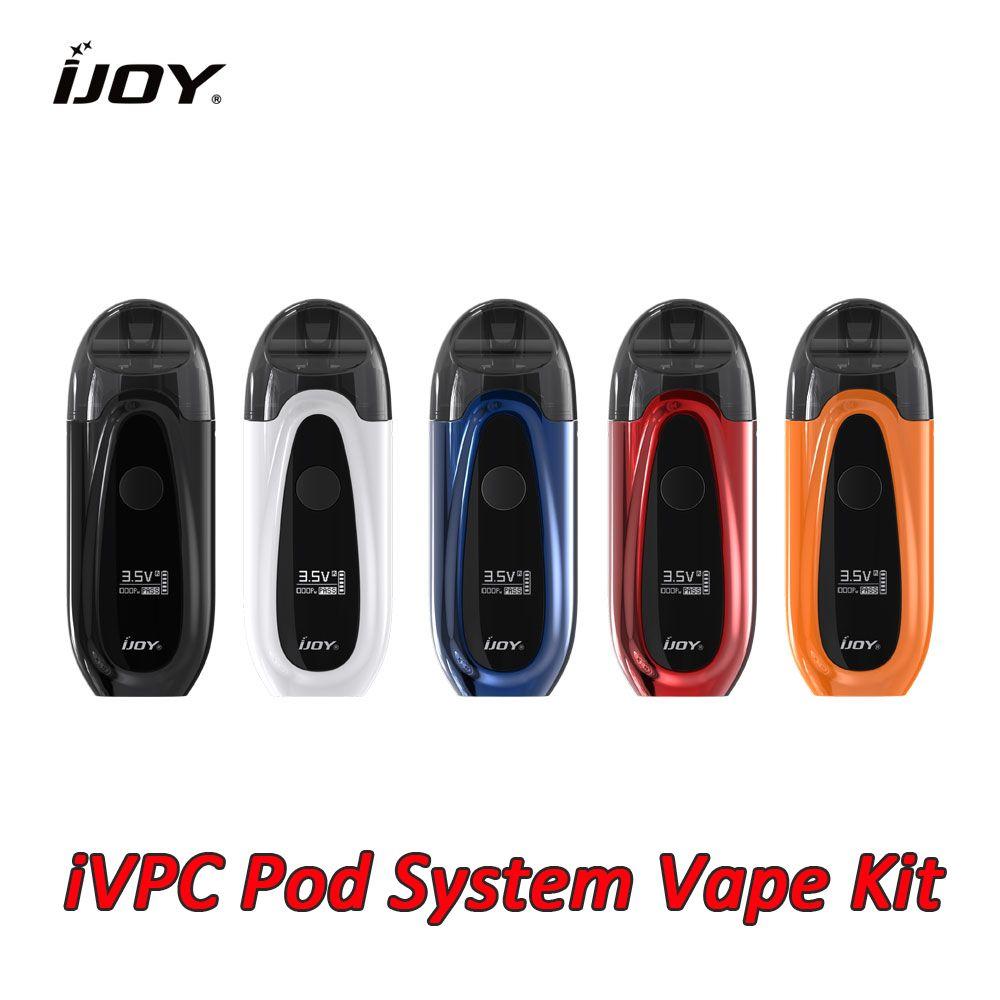 IJOY IVPC Pod система стартера Vape Kit 9 Вт 450mAh батарея с емкостью 2 мл POD быстрая зарядка IJOY аутентичные электронные сигареты E Vaping