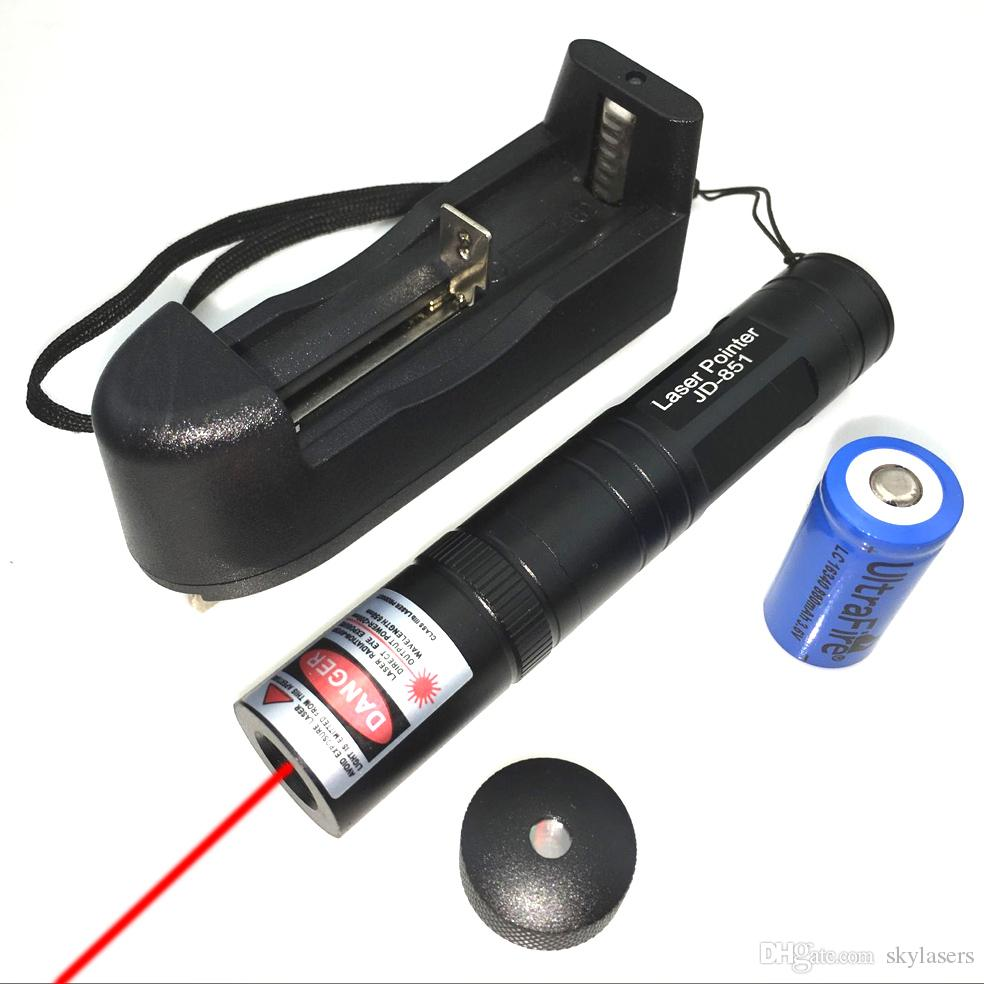RS2 650nm Fixed Focus Red laser pointer pen with Batteries & Charger & star